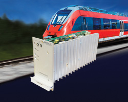 "200W, DC-DC Railway Converter in Plug-in (Eurocard) format for 19"" Rack-mount applications"