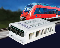Dual output railway DC/DC converters EN50155, EN50121-3-2 EMI and other standards for electronic equipment used on railway rolling stock.