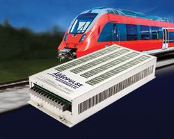 750Vdc input railway DC-DC converters offer traction voltage required for trams, metros, light rail vehicles and mining locomotives
