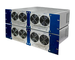 "3kVA, 3-Phase Rugged, Industrial Sine Wave Inverter - 6U x 19"" chassis (4 x 3U3 modules)"
